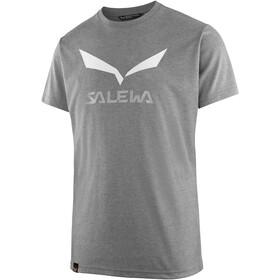 Salewa Solidlogo Dri-Release Camiseta manga corta Hombre, grey melange